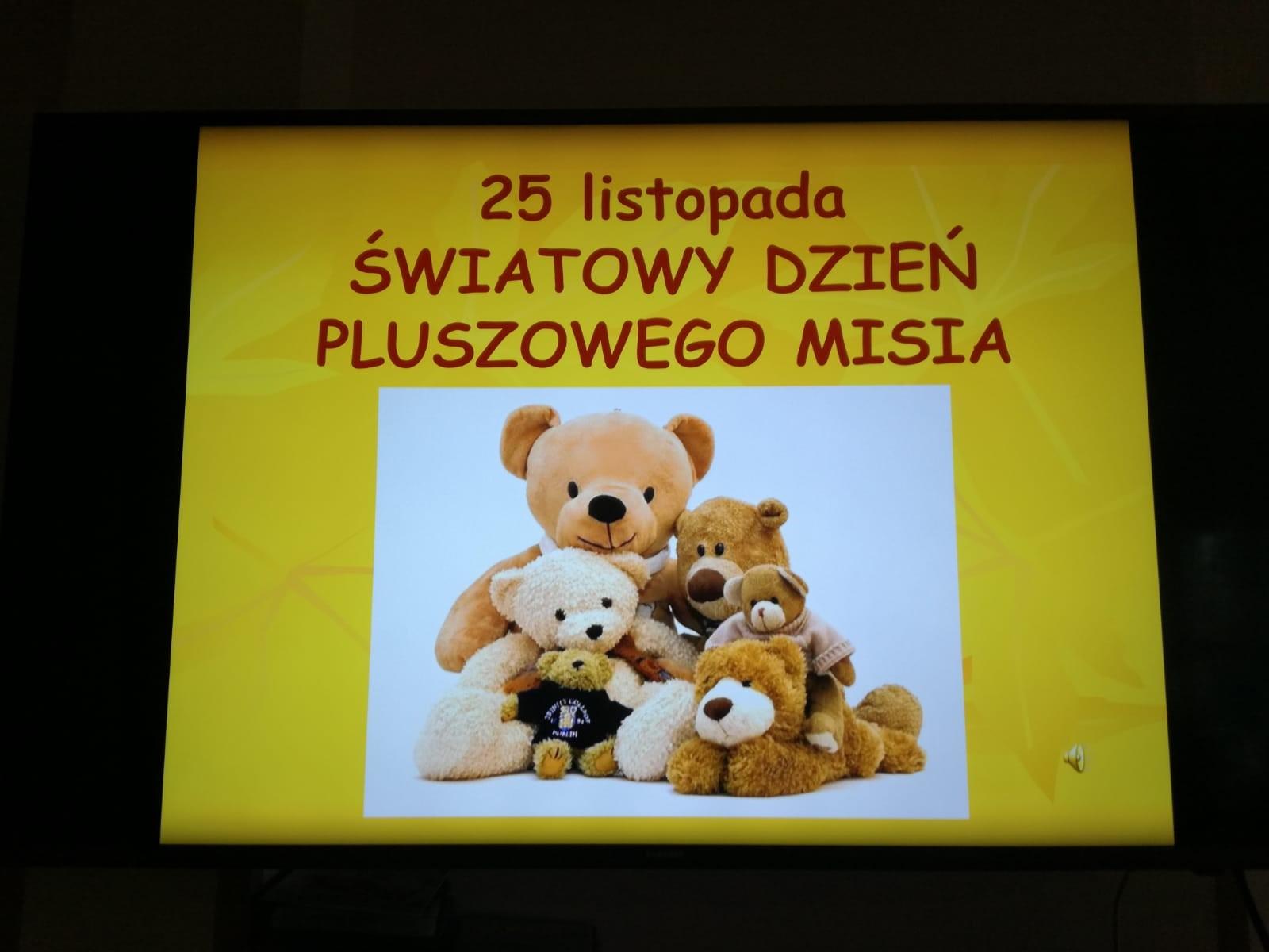 Dzień Pluszowego Misia Przedszkole Samorządowe Nr 26 W
